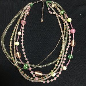 Multicolored assorted bead necklace